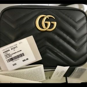 Gucci Mini matalesse black leather crossbody bag